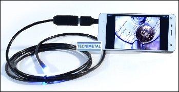 Endoscopio portátil con articulación 180º y aplicación para conectar a teléfono tablet Android venta barato economico